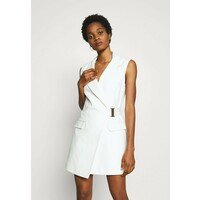 Topshop SLEEVELESS BELTED DRESS Sukienka letnia ivory TP721C188