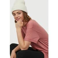 H&M Długi T-shirt 0711053016 Antyczny róż