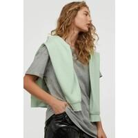 H&M Długi T-shirt 0711053016 Szary melanż