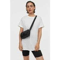 H&M Długi T-shirt 0711053016 Biały