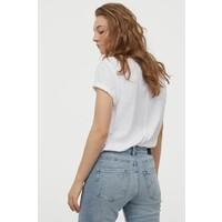 H&M Dżersejowy T-shirt 0856617003 Biały