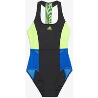adidas Performance Kostium kąpielowy dark blue/neon green AD581G03T