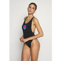 Calvin Klein Swimwear WAVE ONE PIECE Kostium kąpielowy black C1781G00N