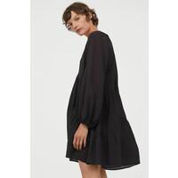 H&M Trapezowa sukienka 0889379009 Czarny