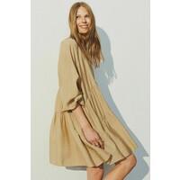 H&M Trapezowa sukienka 0889379009 Beżowy