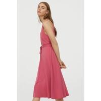 H&M Sukienka z krepy 0739819001 Różowy
