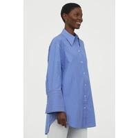 H&M Koszula oversize 0904452006 Niebieski/Białe paski