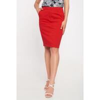 Quiosque Czerwona gładka spódnica do kolan 7JG004601