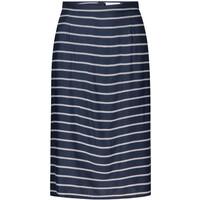 Quiosque Granatowa spódnica w paski do kolan 7HT001822