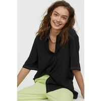 H&M Koszula z krótkim rękawem 0831547001 Czarny