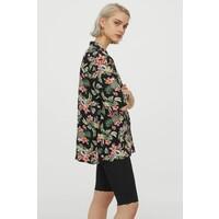 H&M Koszula z krótkim rękawem 0831547001 Czarny/Wzór