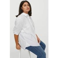 H&M H&M+ Koszula oversize 0831431001 Biały