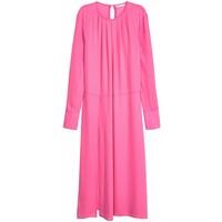 H&M Szeroka sukienka 0571072001 Różowy
