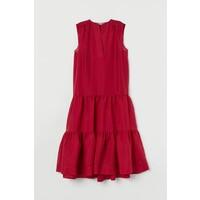 H&M Sukienka z lyocellem 0779956001 Ciemnoróżowy