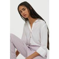 H&M Koszula z dekoltem w serek 0816241004 Biały
