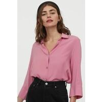 H&M Koszula z dekoltem w serek 0816241004 Różowy