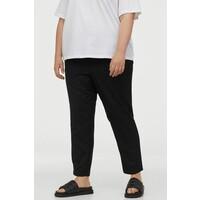 H&M H&M+ Spodnie bez zapięcia 0822237002 Czarny