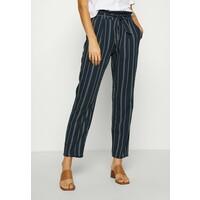 Vero Moda VMEVA LOOSE PAPERBAG STRIPE PANT Spodnie materiałowe navy blazer/birch VE121A0WE