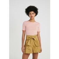 J.CREW PERFECT FIT TEE T-shirt z nadrukiem peony ivory/orange JC421D00U