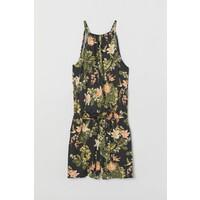 H&M Wzorzysty kombinezon 0727711002 Ciemnoszary/Kwiaty
