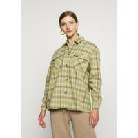 Vero Moda VMELIN CHECKED OVERSIZED Koszula oatmeal/green/blue VE121G0VK