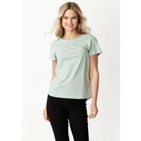 Indiska MATHILDA T-shirt basic light green INO21D00C