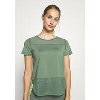 Hunkemöller PERFORMANCE T-shirt z nadrukiem agave green HM141D03C