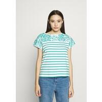 Esprit Petite T-shirt z nadrukiem teal green ESI21D009