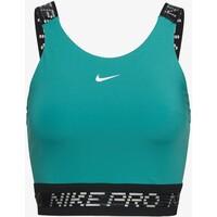Nike Performance CROP TANK Koszulka sportowa neptune green/black/metallic silver N1241D15P