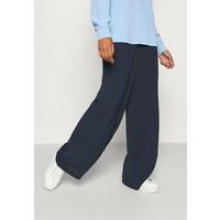 Vero Moda SAGA WIDE PANT Spodnie materiałowe navy blazer VE121A0PL