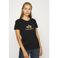 Alpha Industries NEW FOIL T-shirt z nadrukiem black/gold AL521D008