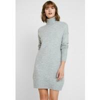 Vero Moda VMLUCI ROLLNECK DRESS Sukienka dzianinowa light grey melange VE121C1VZ