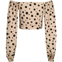 Missguided (Tall) Bluzka 'POLKA DOT' MTT0019001000002