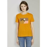 TOM TAILOR DENIM T-shirt z nadrukiem orange yellow TO721D0TX