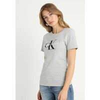 Calvin Klein Jeans CORE MONOGRAM LOGO T-shirt z nadrukiem light grey heather C1821D06W
