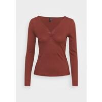 Vero Moda VMPOLLY NECK TOP Bluzka z długim rękawem sable VE121D1IC