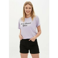 DeFacto T-shirt z nadrukiem purple DEZ21D085