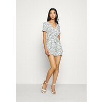 Miss Selfridge S:ANIMAL PRINT PLAYSUIT Kombinezon black MF921T05T