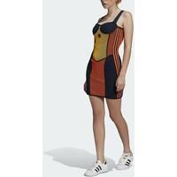 adidas Originals KNIT COLLAB SPORTS INSPIRED SLIM DRESS Sukienka etui active gold/black/energy orange/collegiate navy AD121C05Z