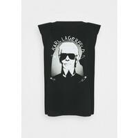 KARL LAGERFELD ROCK STAR TANK T-shirt z nadrukiem black K4821D05J