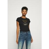 G-Star WASH SLIM T-shirt z nadrukiem black GS121D0OI