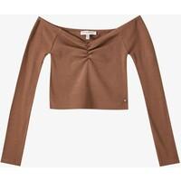 PULL&BEAR Bluzka z długim rękawem brown PUC21D1BV