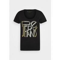 Pepe Jeans LORE T-shirt z nadrukiem black PE121D0JW