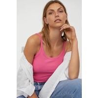 H&M Koszulka w prążki 0917434002 Różowy