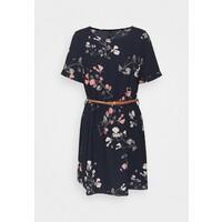 Vero Moda VMANNIE BELT SHORT DRESS Sukienka letnia night sky VE121C2CH