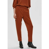 Selected Femme SLFTENNY MW ANKLE PANT Spodnie materiałowe brown SE521A0H6