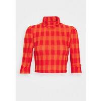 Glamorous HIGH NECK CROP T-shirt z nadrukiem red/orange GL921E07W