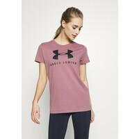 Under Armour GRAPHIC SPORTSTYLE CLASSIC CREW T-shirt z nadrukiem pink fog UN241D0A3