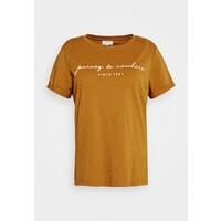 ONLY Carmakoma CARBESS LIFE TEE T-shirt z nadrukiem pumpkin spice melange ONA21D06F