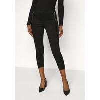 Vero Moda Petite VMCAVA ZIP LEGGING Spodnie materiałowe black VM021G01P